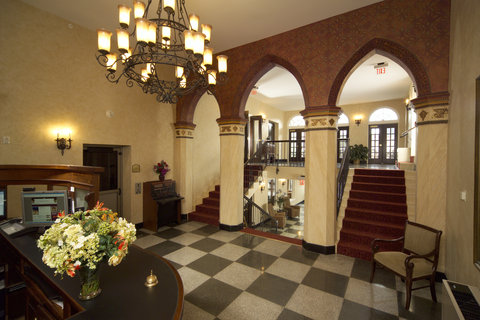 The Hotel\'s beautiful and eclectic lobby and mezza