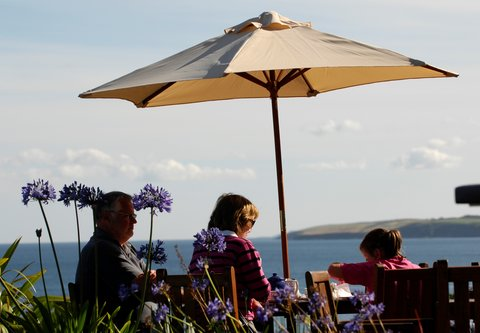 Dining by the sea