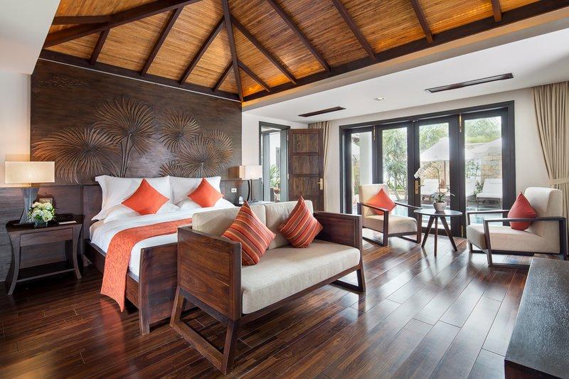 Ocean Pool Villa Master Bedroom at Amiana Resort