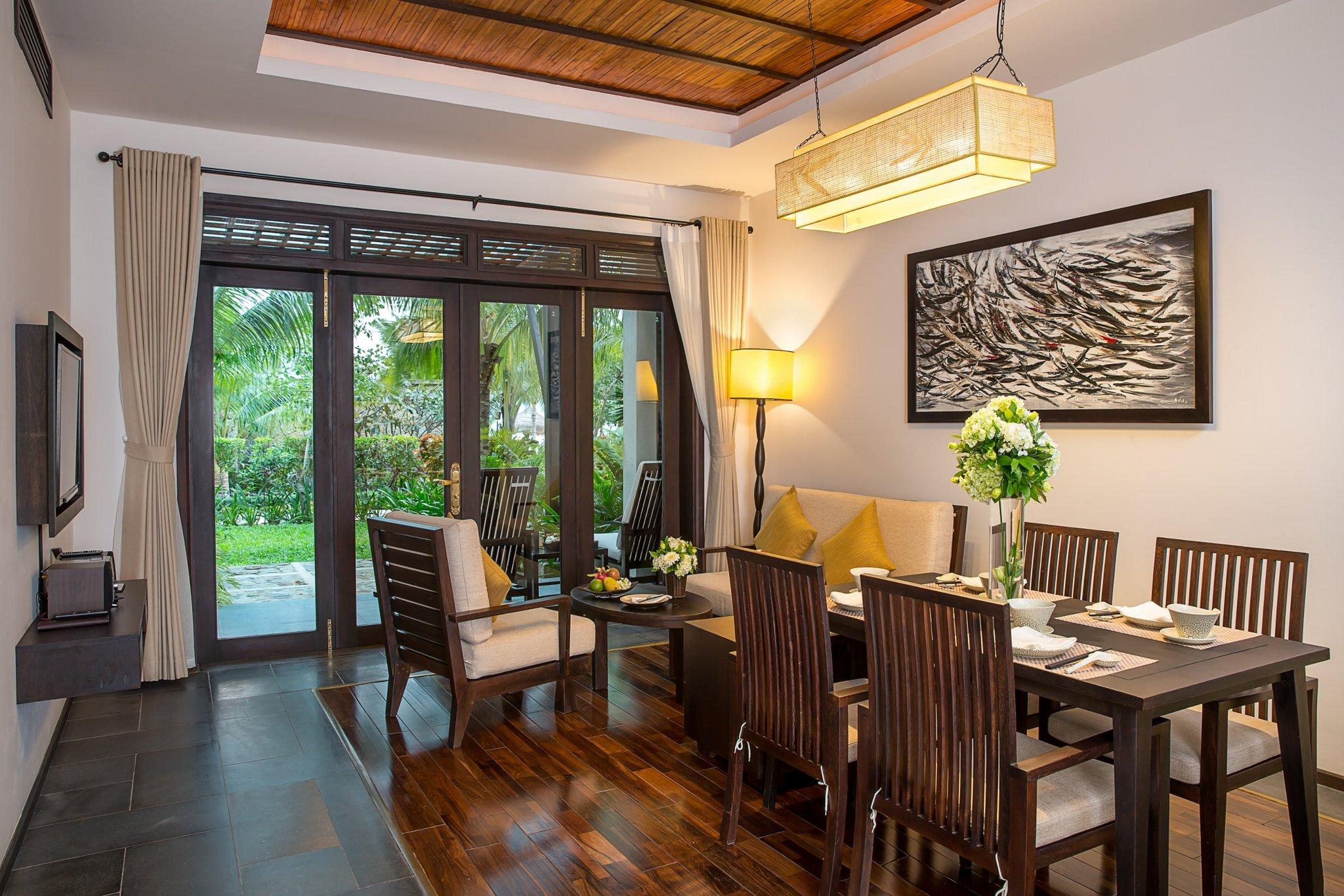 Family Villa Living Room at Amiana Resort