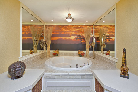 Themed Spa Suite. Jetted Tub Area. Safari.