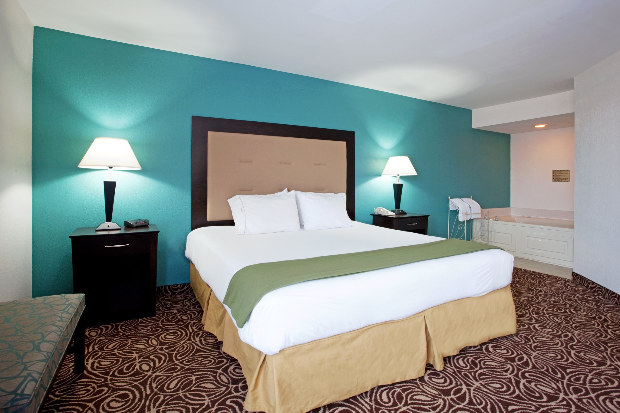 Two Bedroom Suite, first room with King bed and Wh