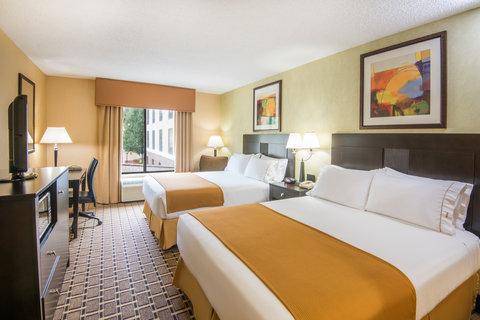 Get comfortable. Two Queen Beds.