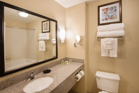Soaker tub in our king suites.