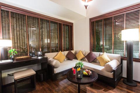 Ocean Villa Living Room at Amiana Resort