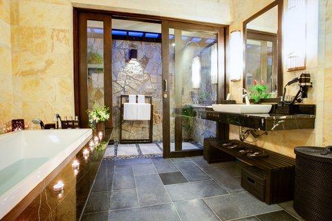 Family Villa Bathroom at Amiana Resort